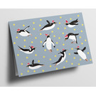 Folded Card - Flying Pinguins