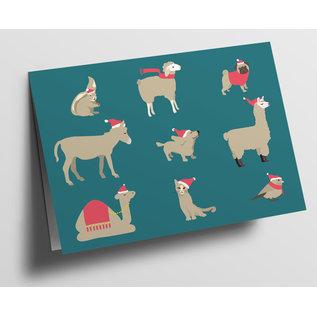cc313 | Folded Card - Animal Christmas