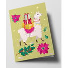 cc317 | crissXcross | Christmas Llama - folding card  B6