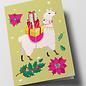 cc317 | crissXcross | Christmas Llama - folding card  B6
