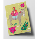 cc318 | crissXcross | Christmas Donkey - folding card  B6