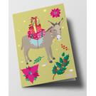 Folded Card - Christmas Donkey