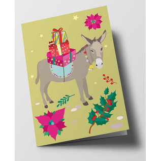cc318 | crissXcross | Christmas Donkey - Klappkarte B6