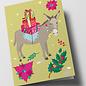 cc318 | Folded Card - Christmas Donkey
