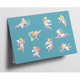 cc323 | crissXcross | Little Angel - folding card  B6