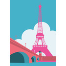 mo503 | MONUMENT | Eiffel tower - ArtPrint DIN A5