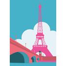 mo503 | MONUMENT | Eiffelturm - ArtPrint DIN A5