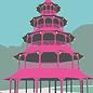 bv041 | bon voyage | Chinese Tower, Munich - postcard A6