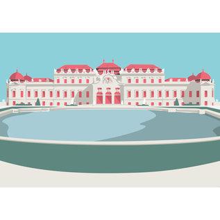 bv045   bon voyage   Castle Belvedere, Vienna - postcard A6