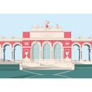 bv049 | bon voyage | Gloriette, Wien - Postkarte A6