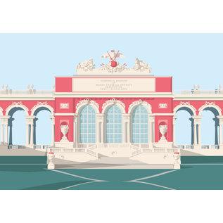 bv049   Postkarte - Gloriette, Wien