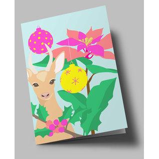 lu305 | Klappkarte - Christmas Bambi