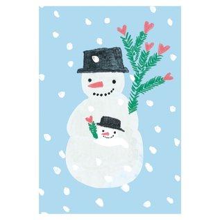 sg200   Postkarte - Winter -Schneemann