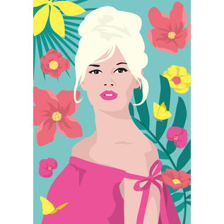 ng903 | pop art new generation | Brigitte Bardot - ArtPrint DIN A5