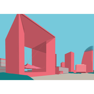 bv054   bon voyage   La Grande Arche de la Défense - Postkarte A6