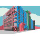 bv055 | Postkarte - Centre Georges-Pompidou