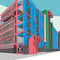 bv055   bon voyage   Centre Georges-Pompidou - postcard A6