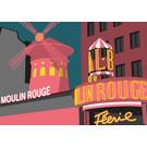 bv057 | bon voyage | Moulin Rouge - Postkarte A6