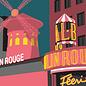 bv057   bon voyage   Moulin Rouge - postcard A6