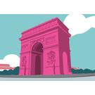 bv059 | bon voyage | Arc de Triumphe - Postkarte A6