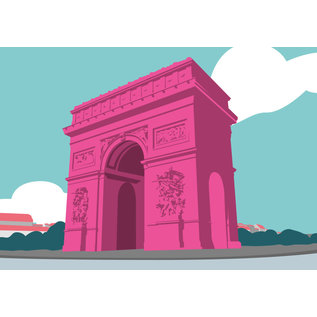 bv059   bon voyage   Arc de Triumphe - Postkarte A6
