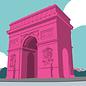 bv059 | bon voyage | Arc de Triomphe - Postkarte A6
