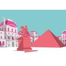 bv060 | bon voyage | Louvre - postcard A6