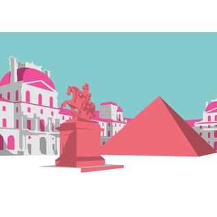 bv060 | bon voyage | Louvre - Postkarte A6