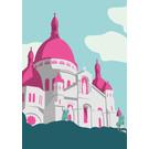 bv061 | bon voyage | Sacré Cœur - postcard A6