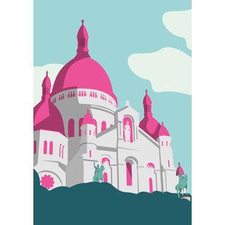 bv061   bon voyage   Sacré Cœur - postcard A6