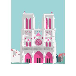 bv062 | bon voyage | Notre-Dame - postcard A6