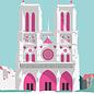 bv062 | bon voyage | Notre-Dame - Postkarte A6