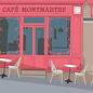 bv063 | bon voyage | Cafe Montmartre - Postkarte A6