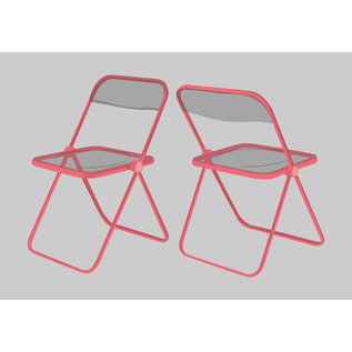 dc005| Postkarte - Plia  Chair (Giancarlo Piretti)