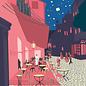 "mu001   museum art   Vincent van Gogh ""Café Terrace at night"" 1888 - Postkarte A6"
