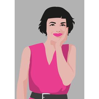 ng061 | pop art new generation | Audrey Tatou - Postkarte A6