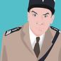 ng062 | pop art new generation | Luis de Funes - Postkarte A6