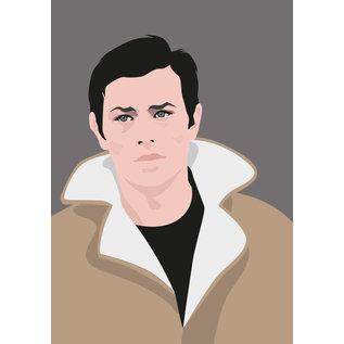 ng063 | pop art new generation | Alain Delon - Postkarte A6