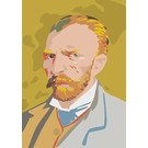 mu300 | museum art | van Gogh Portrait - Winter 1886/87 - postcard A6