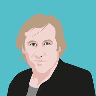 ng064 | pop art new generation | Gérard Depardieu - Postkarte A6