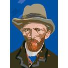 mu301 | museum art | van Gogh Portrait -  1887 - postcard A6