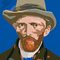 mu301 | museum art | van Gogh Portrait -  1887 - Postkarte A6