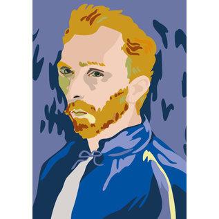 mu303 | museum art | van Gogh Portrait -  August 1889 - postcard A6