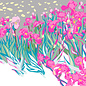 "mu002 | museum art | Vincent van Gogh ""irises"" - postcard A6"