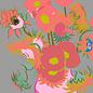 """mu003   museum art   Vincent van Gogh """"sunflowers"""" - postcard A6"""