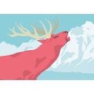 lu109 | postcard - deer