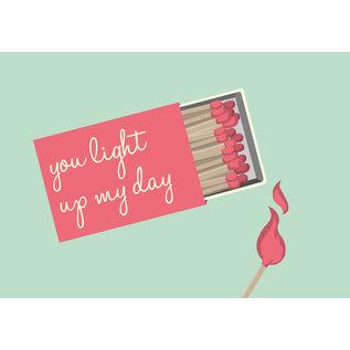 lu112 | luminous | You Light Up My Day - postcard A6