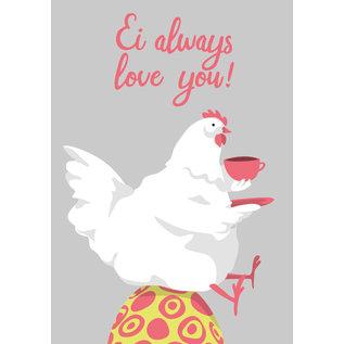 lu113 | luminous | Egg Always Love You - postcard A6