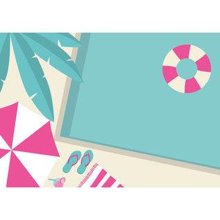 ma003 | Postkarte - Pool Life