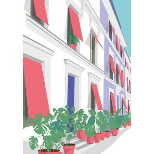 ma004 | Modern Art | Houses - Postkarte A6